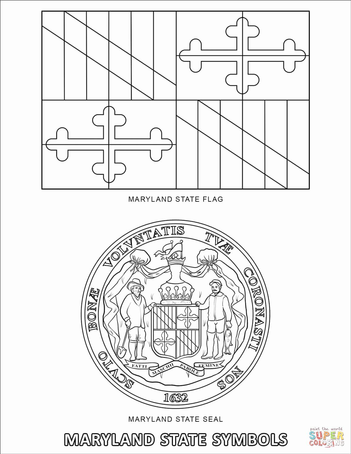 Maryland Flag Coloring Page Fresh Lovely New Jersey State