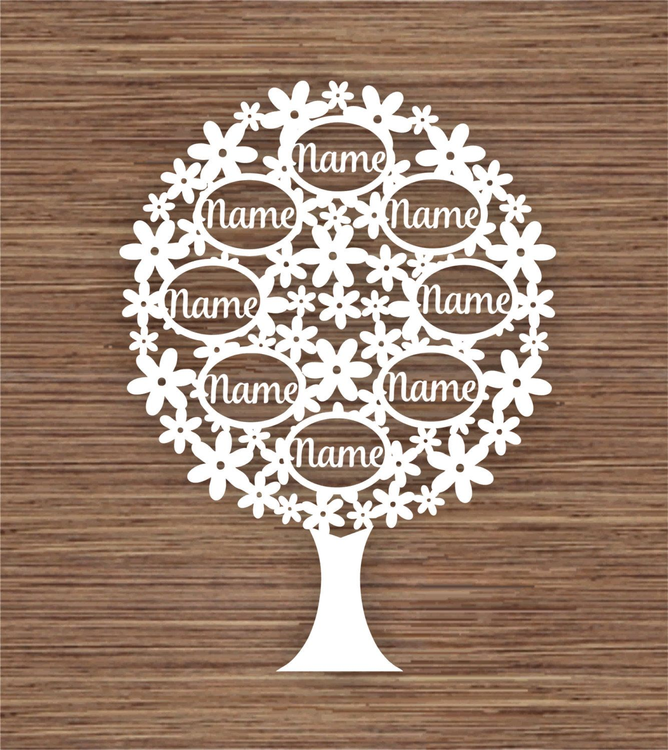 Custom Family Tree For 8 Pdf Svg Commercial Use Instant Download