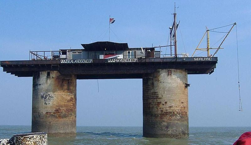 For £99.99 you can become a knight of Sealand: A sea fort which claims to be the smallest nation in the world!