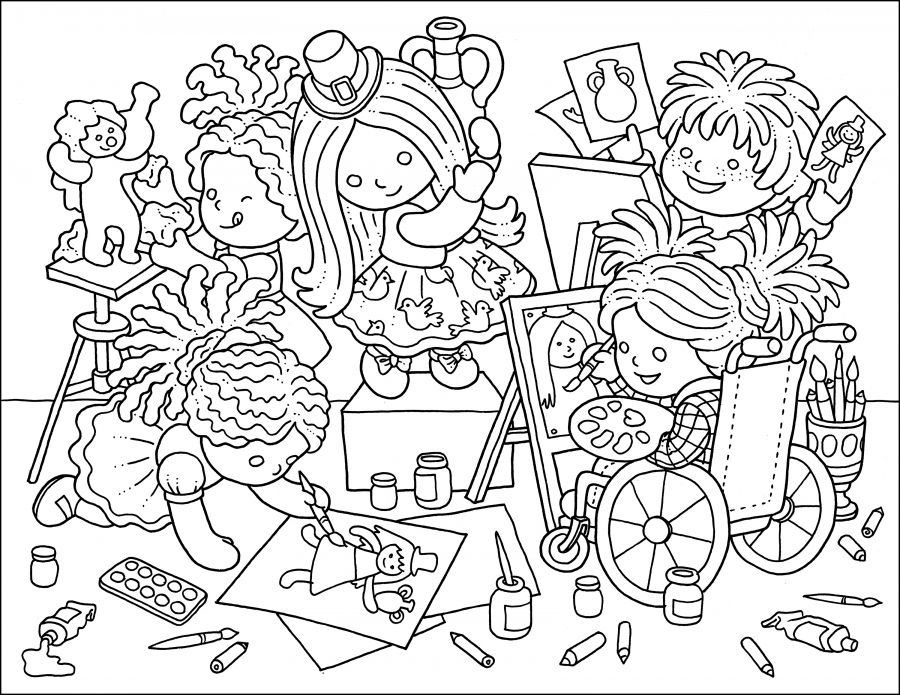 Colouring Page Art Class Coloring Pages Art Color