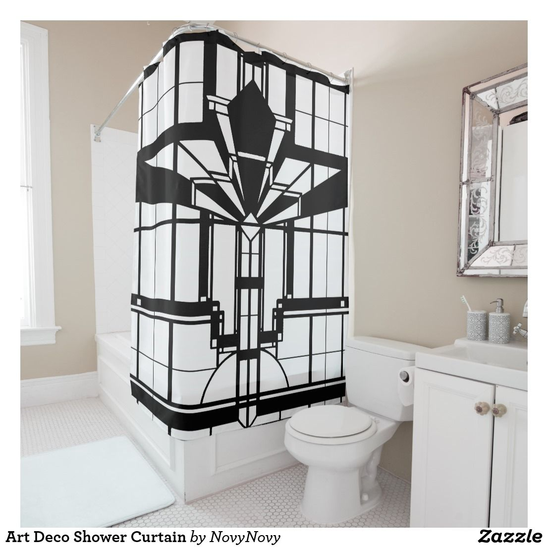 Art Deco Shower Curtain Zazzle Com Custom Shower Curtains