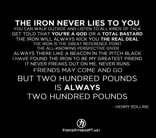 Henry rollins quotes fitness strength weightlifting - Powerlifting quotes ...