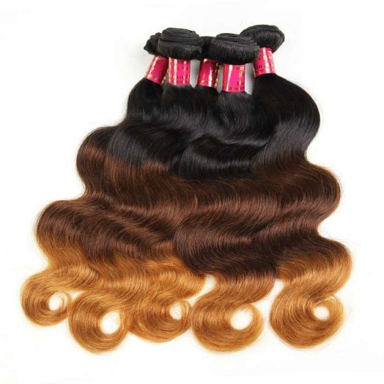 10a Best Malaysian Remy Hair Ombre Color Body Wave 4 Bundles Pack