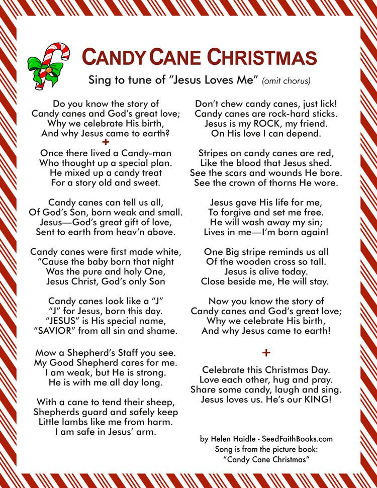 Candy Cane Christmas Song | Holidays | Christmas, Candy cane, Candy