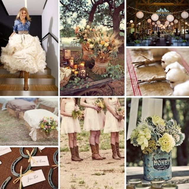 Rustic Country Chic Wedding Collage