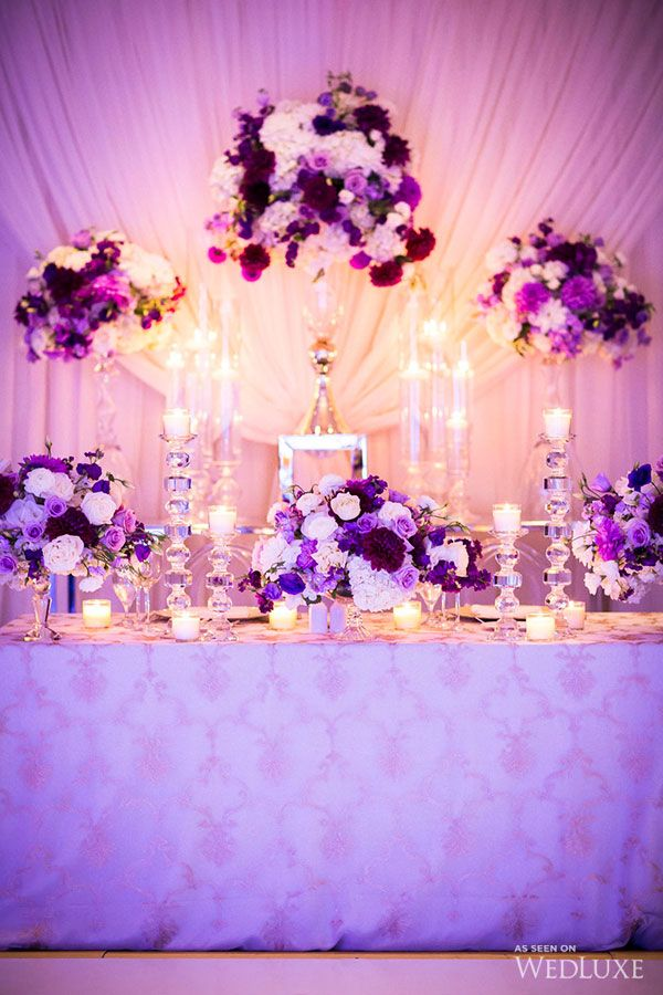 Purple Gold Persian Wedding Silver Wedding Decorations Purple
