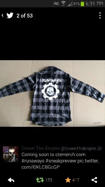 Crown The Empire Flannel ✌ I want this so bad!!!