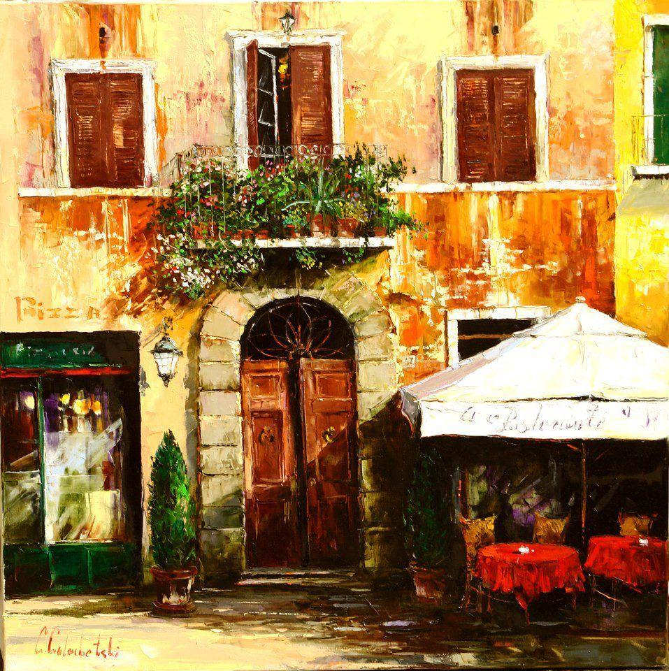 Italian Door  By Gleb Goloubetski from Siberia Russia (b. 1975 & Italian Door