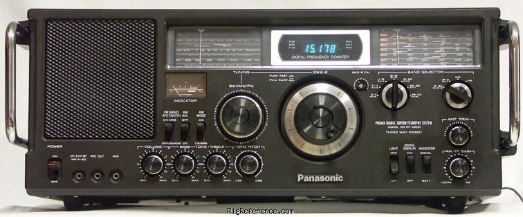 National Panasonic Rf 4900 Receiver Rigreference Com With