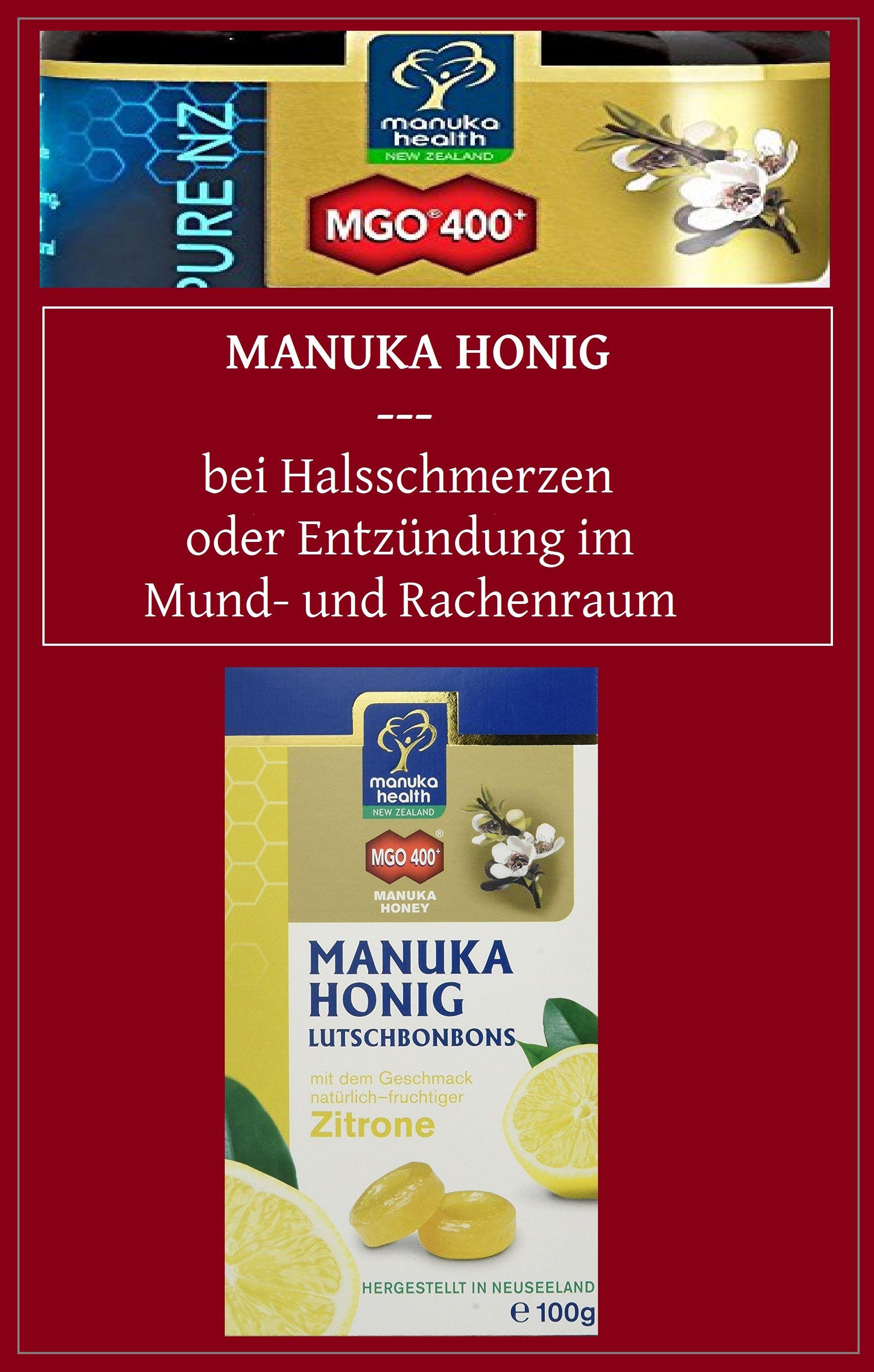 Zitronen-Lutschbonbons mit starken Manukahonig 400+:  Stärken die Abwehrkräfte, helfen direkt bei Entzünden im Mund- und Rachenraum, verschaffen bei Halsschmerzen sofortige Linderung.