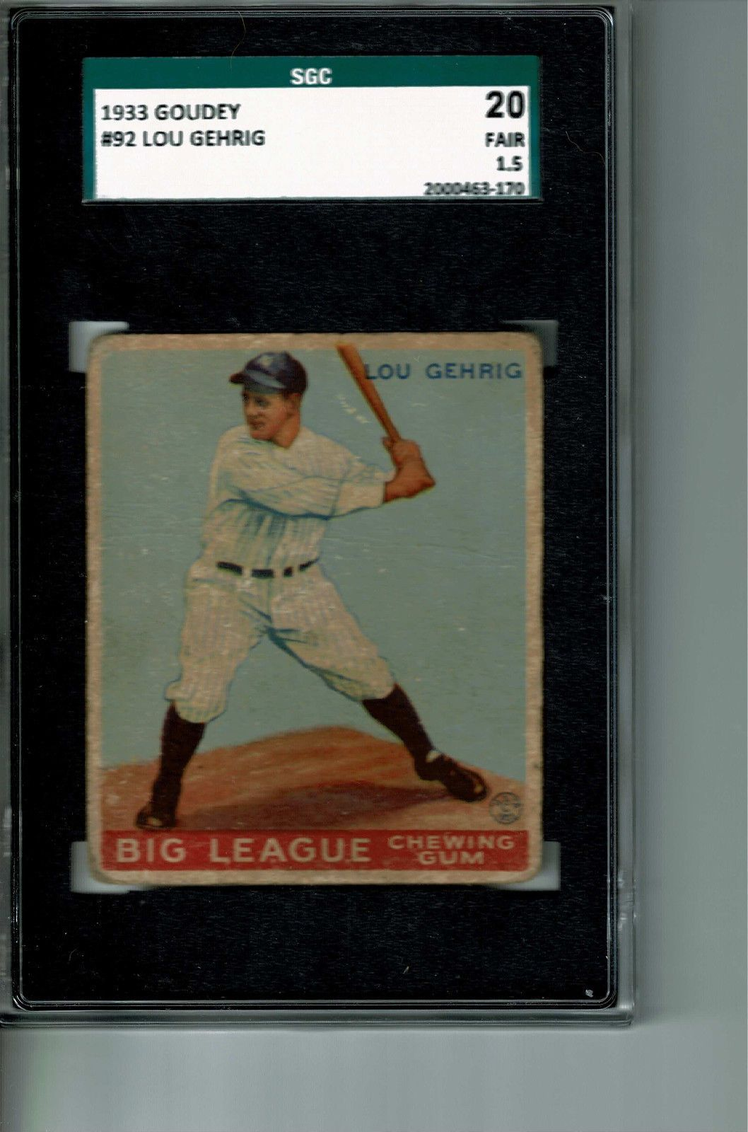 lou gehrig baseball card price