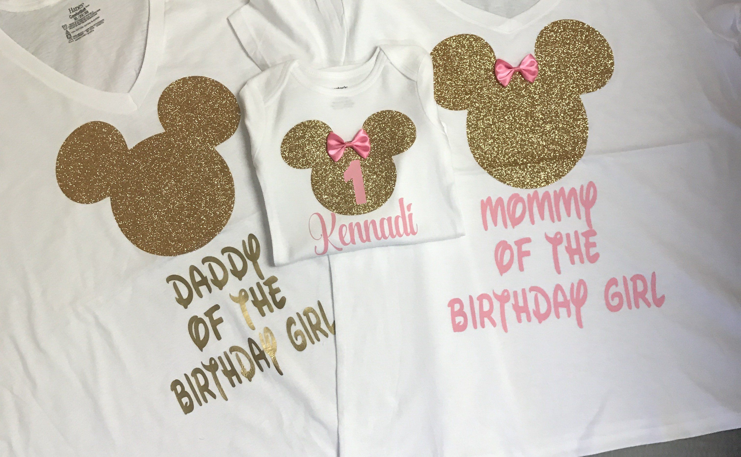 08f6185a Mom and dad Mickey Mouse shirts, first birthday mom shirt, daddy of the  birthday girl, mom and dad matching shirts, first birthday outfit