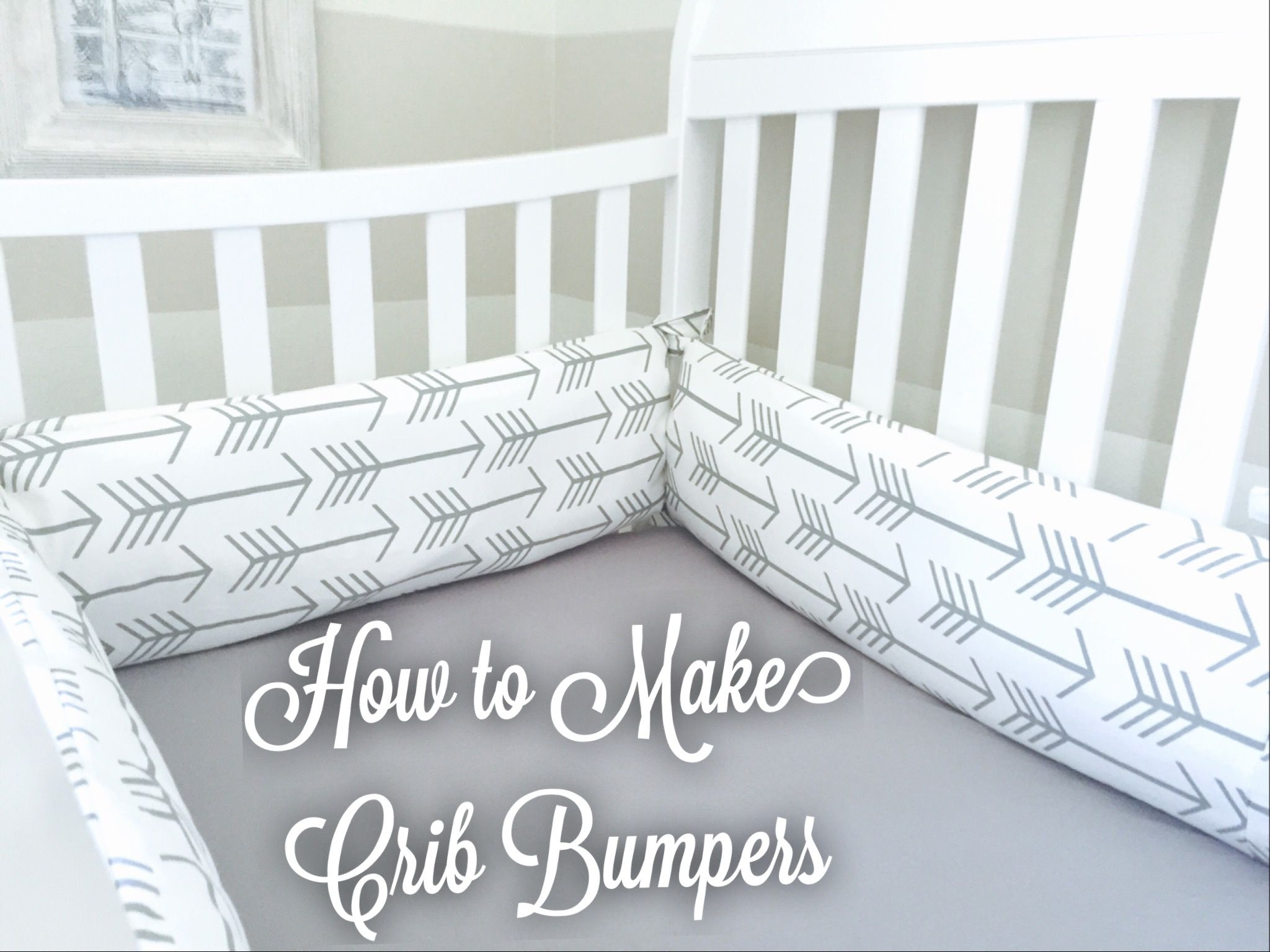 Baby Boy Nursery Part 3 How To Make Crib Bumpers Miss Bizi Bee Baby Girl Nursery Diy Baby Crib Bumpers Baby Nursery Diy
