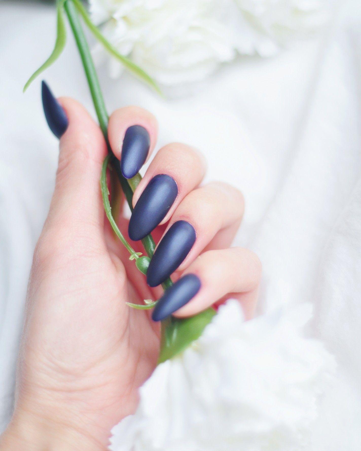 Dark Blue Nails Granatowe Paznokcie Nails Darkblue Dark Blue