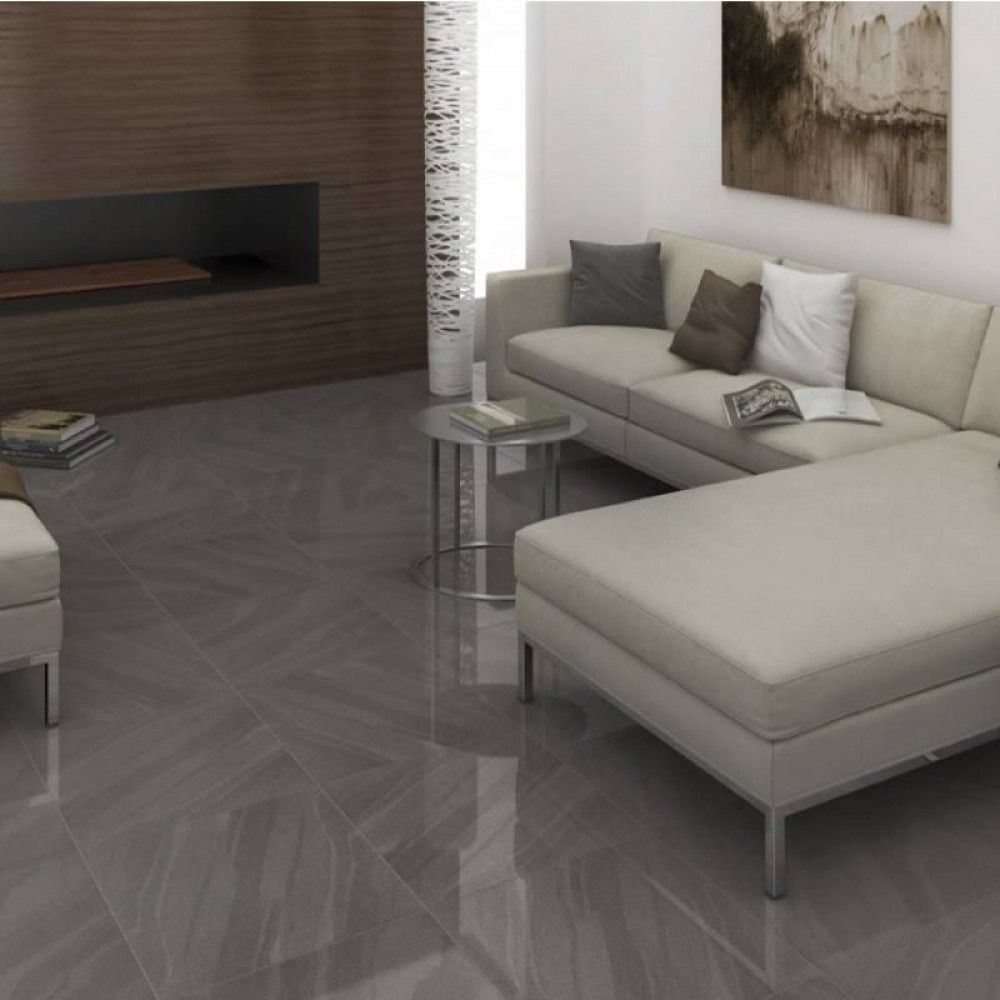 Kando sand wave graphite grey full body porcelain polished wall a graphite grey full body porcelain quality high polished wall and floor tile to last for years dailygadgetfo Images