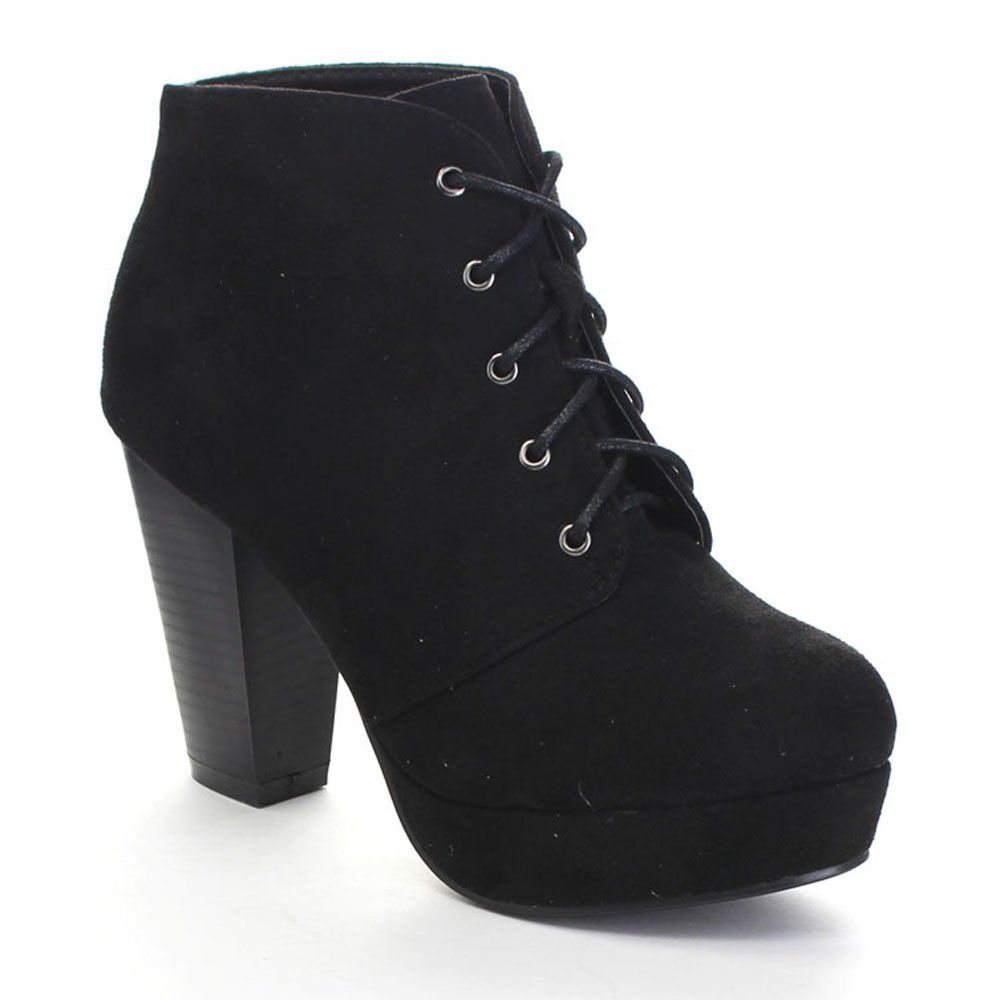 Women's Stacked Chunky Heel Ankle Boots