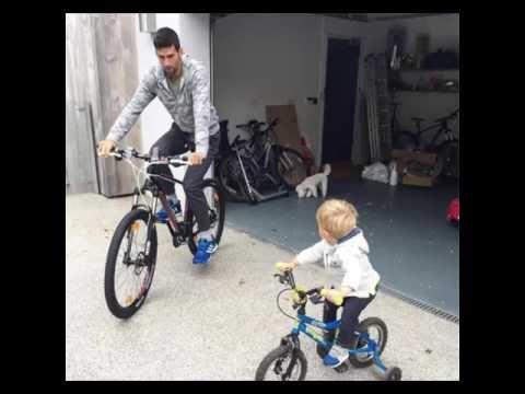Novak Djokovic S Son Stefan đokovic Training With His Father Novak Djokovic Sons Father