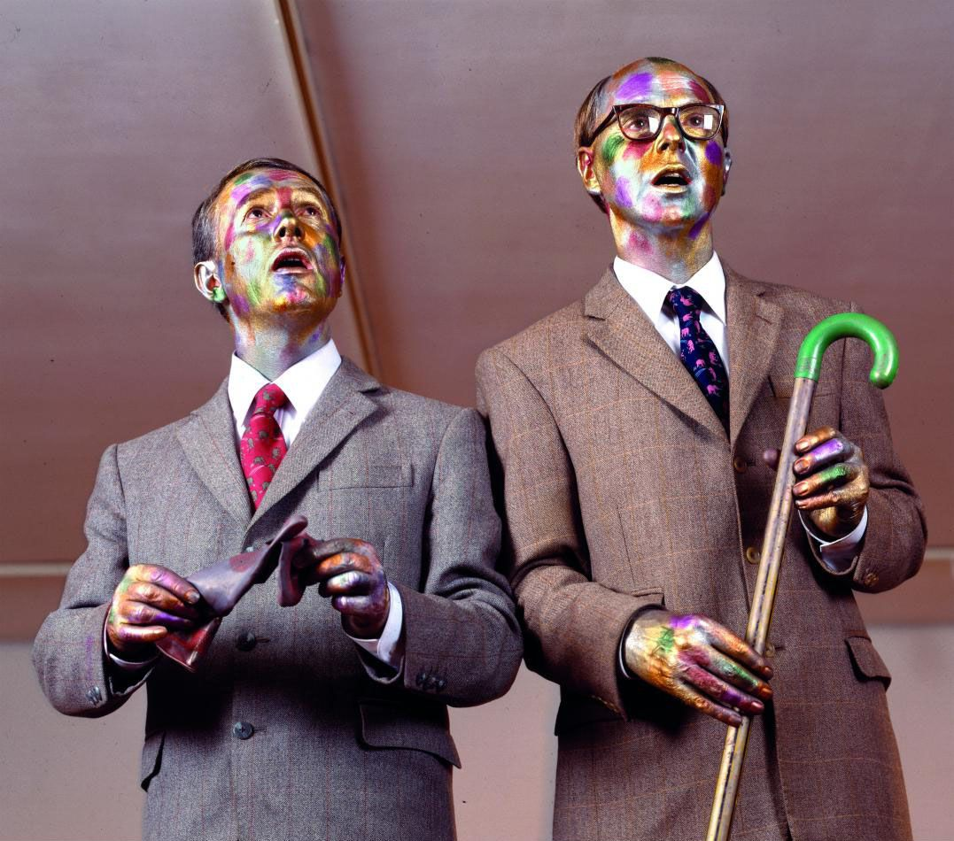 Gilbert And George The Singing Sculpture Sonnabend Gallery 1991 Photo Philip Haas Gilbert George George Performance Art