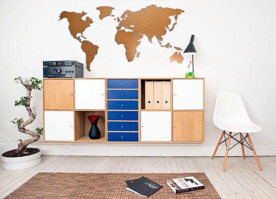 Weltkarte Magna (Rahmenlose Pinnwand selbstklebend