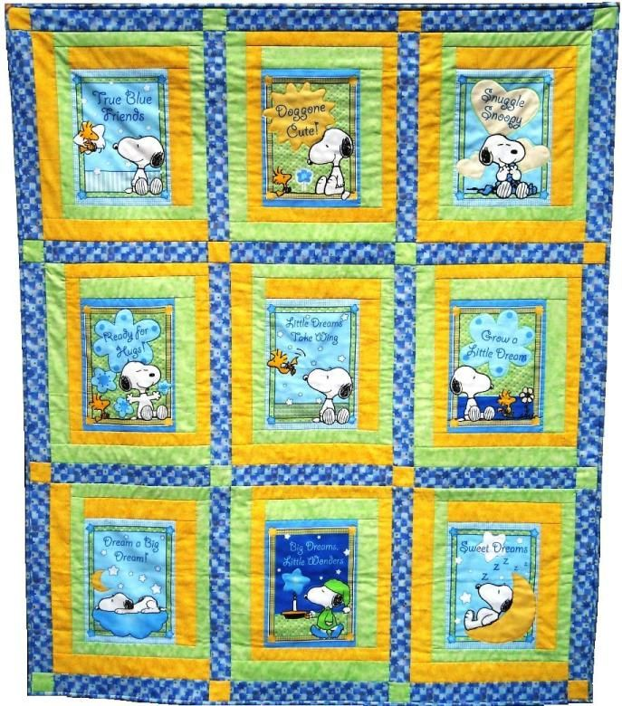 Snoopy Quilt Google Search Panel Quilts Quilts Book