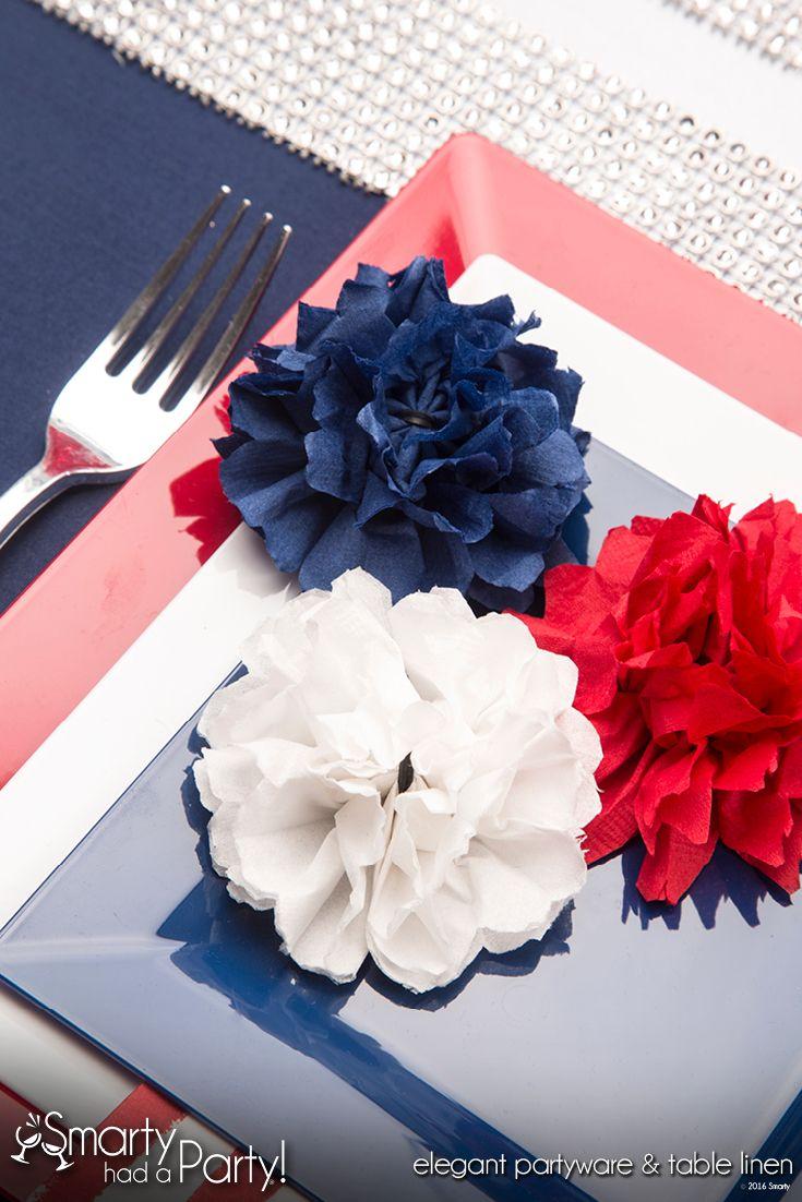 Paper Napkin Flower Event Decor Smartyhadaparty Event