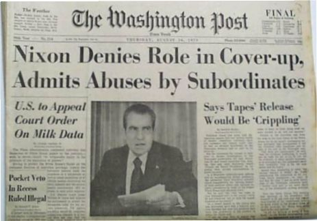 Washington post watergate headlines for dating