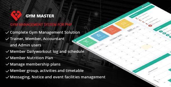 Free Download Gym Master - Gym Management System - Codecanyon ...