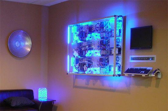 Diy Supercomputer Found In Office Lobby Computer Bauen Der Computer Computer