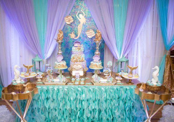 Blue Green Under The Sea Baby Shower Dessert Table Twinnzz 1st B