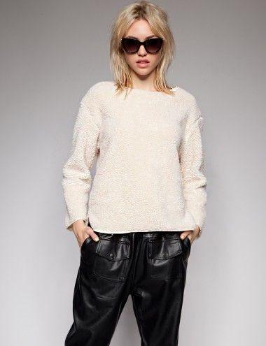 Cozy beige sweater