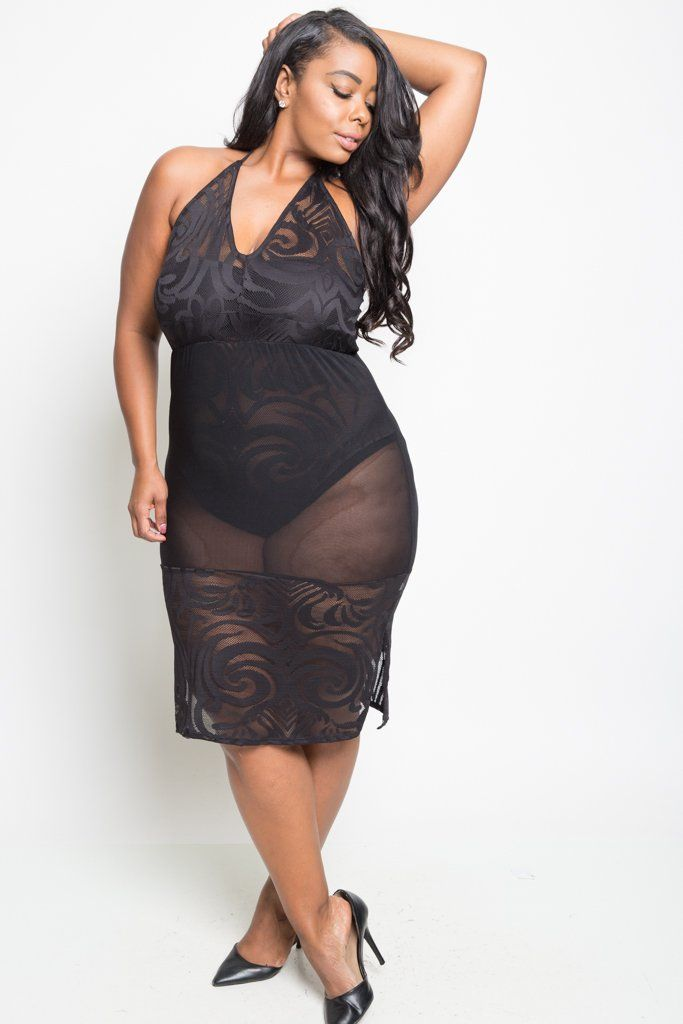 Plus size tube dress sexy