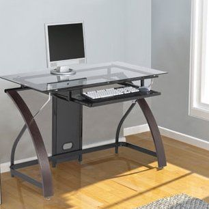 Surprising Symple Stuff Hille Glass Computer Desk In 2019 Products Complete Home Design Collection Papxelindsey Bellcom