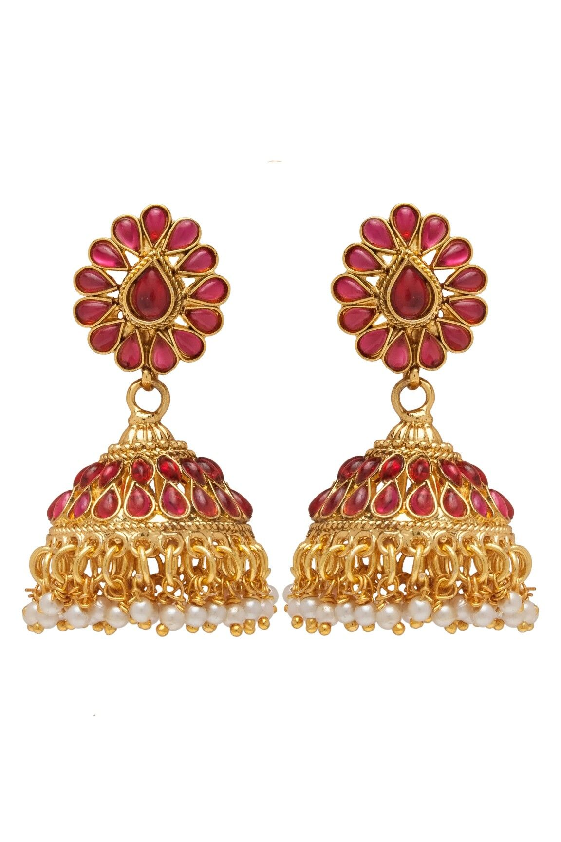 c12f7ef31 Antique Kemp stone jhumka Rs.650 contact or whtsup on +91 8080256582  #antique #gold #plated #jhumki #earring #designer #jhumka #earring #south # indian ...