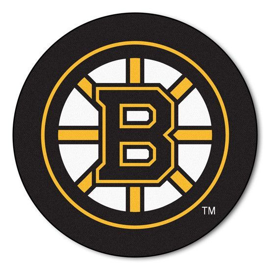 Boston Bruins Puck Shaped Floor Mat Boston Bruins Logo Boston Bruins Nhl Boston Bruins