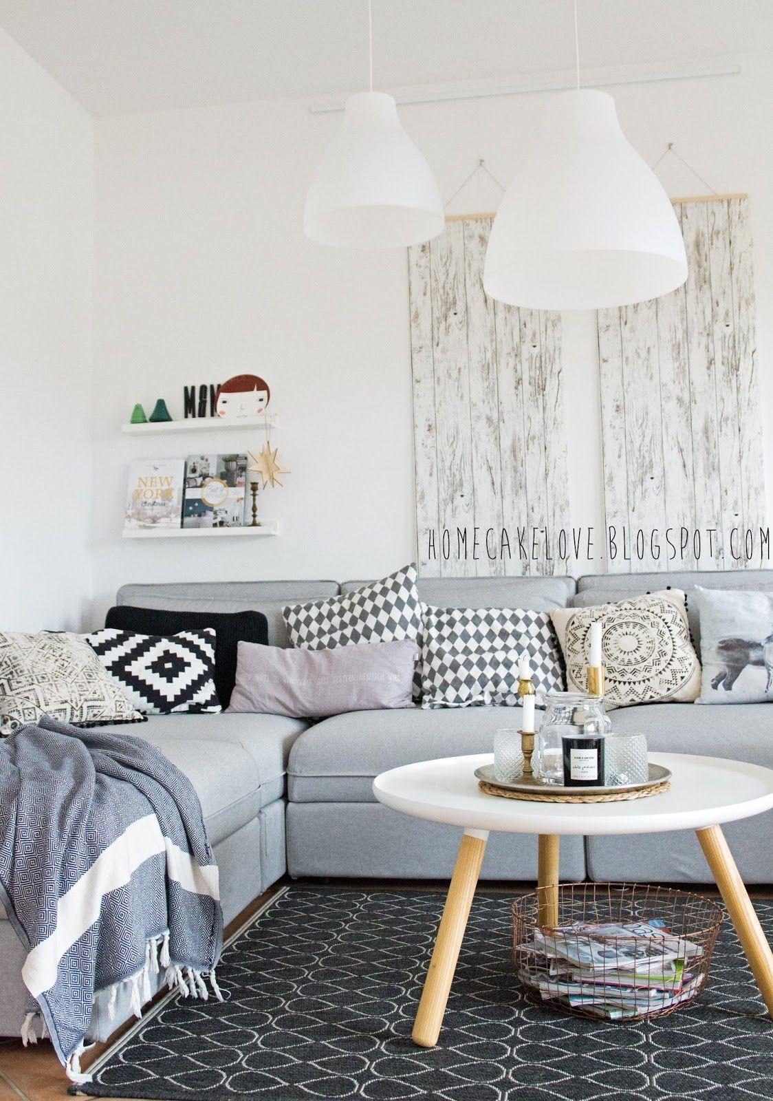 Ikeasofa, neues Sofa von Ikea, Vallentuna von Ikea, Sofa in grau ...