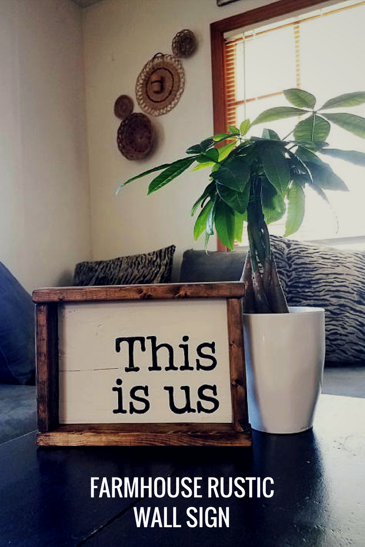 This is us farmhouse wood sign rustic wall decor sign home decor