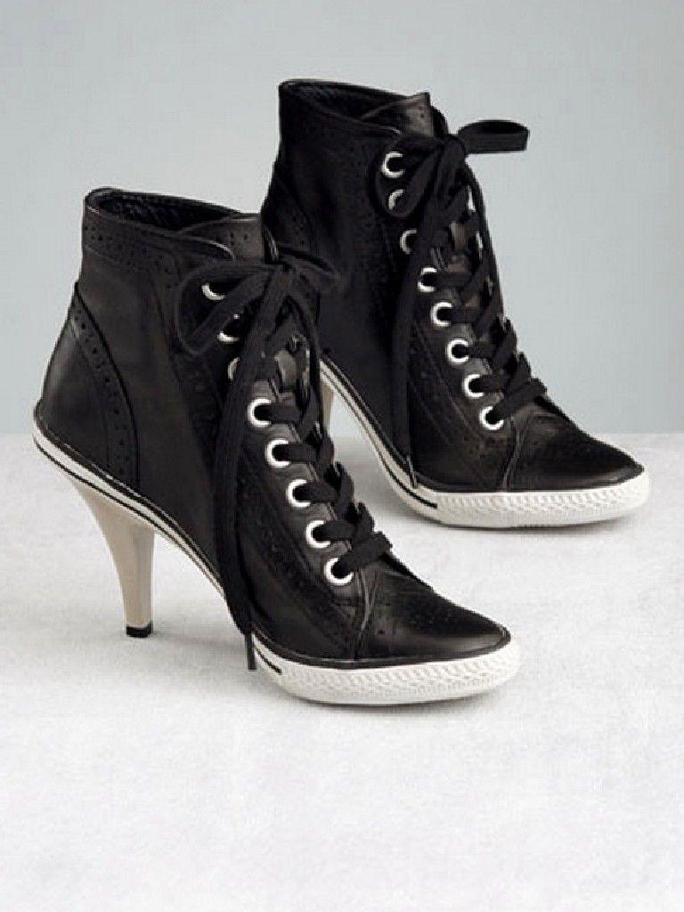 High heel Converse running shoes...  d06006328b