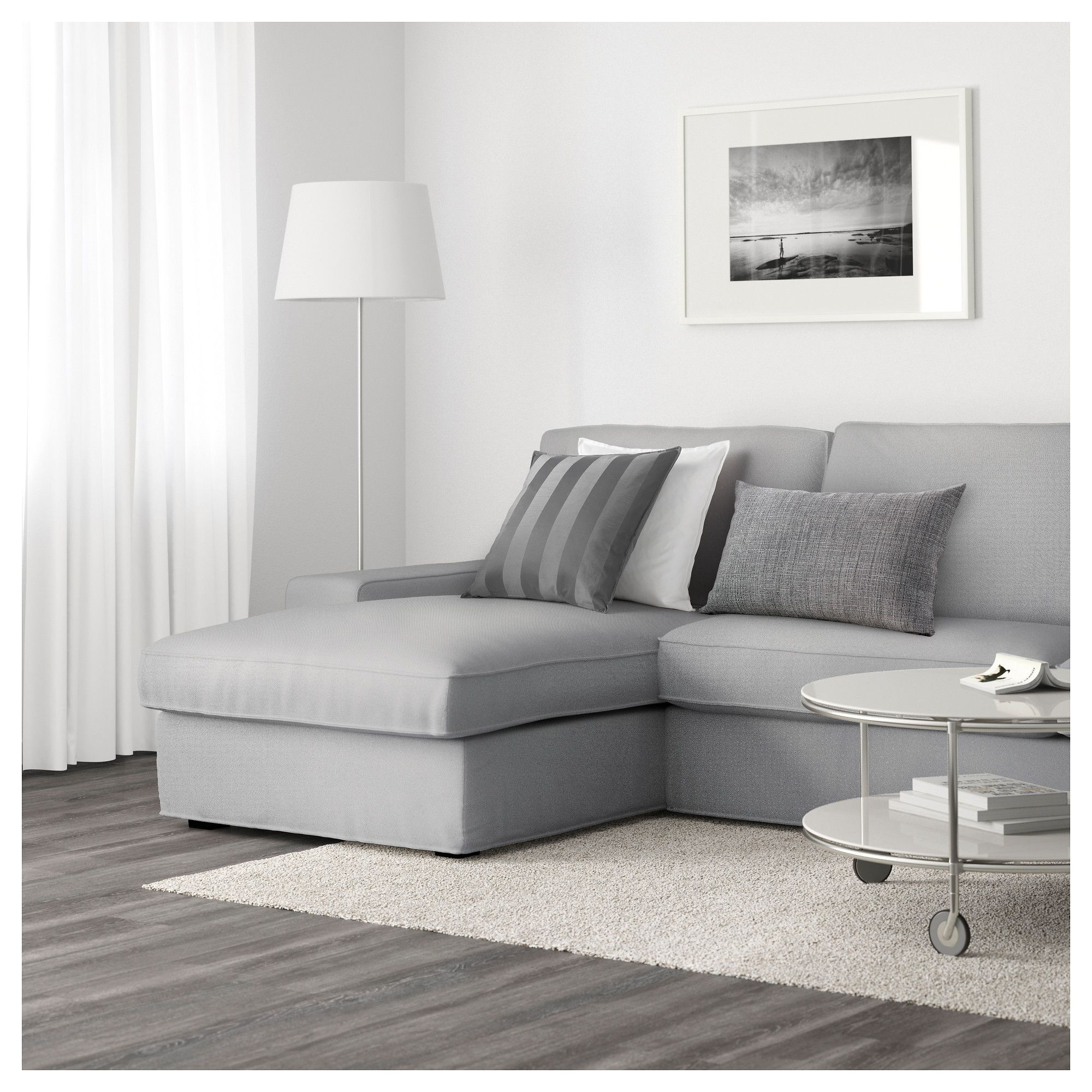 Kivik Sectional 4 Seat Orrsta With Chaise Orrsta Light Gray