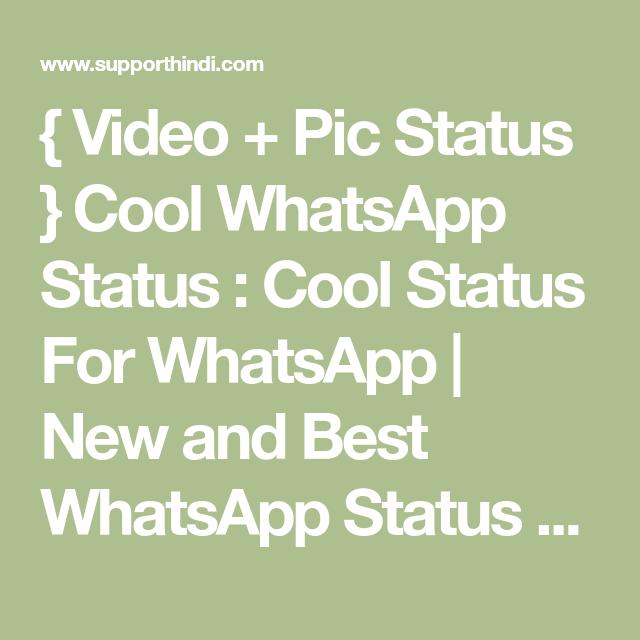 Video Pic Status Cool Whatsapp Status Cool Status For