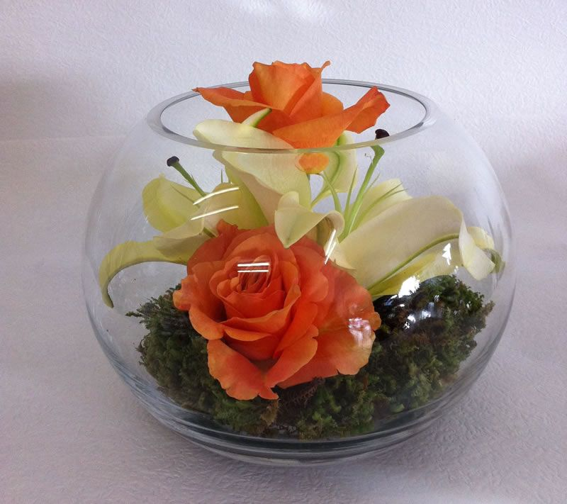 Fish bowl flower arrangements corporate gallery