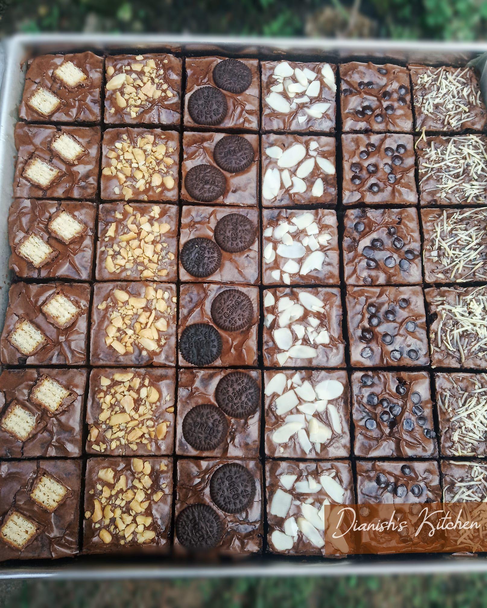 Resep Fudgy Brownies Ukuran Jumbo By Dianish S Kitchen Fudgy Brownies Brownies Adonan