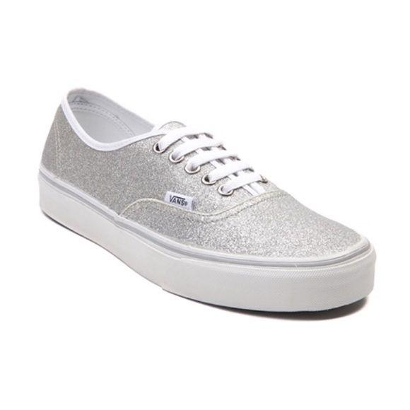 Silver Sparkle Vans | Sparkly vans