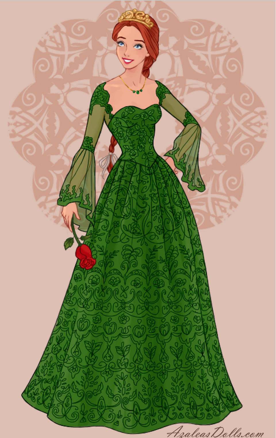 Princess Fiona In Wedding Dress Design Dress Up Game Disney Princess Fashion Princess Fiona Shrek Dress