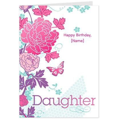 Flowers And Butterflies Daughter Birthday Card Hallmark UK