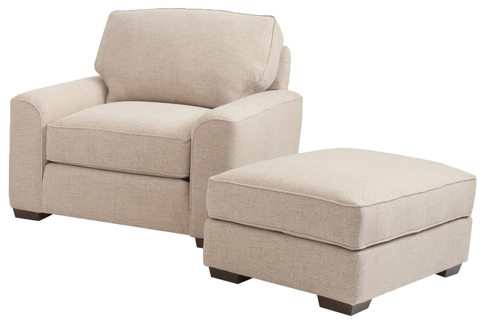 Best Retro Styled Chair And Ottoman Set By Smith Brothers 400 x 300