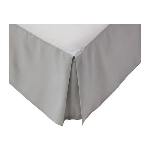 Ikea Us Furniture And Home Furnishings Bedskirt Linen Bedding Grey Bedding