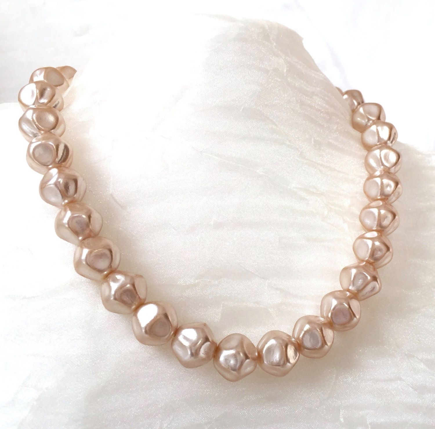 Baroque Pearl Choker Miriam Haskell Pearl Ivory Vintage Etsy Large Pearl Necklace Pearl Choker Baroque Pearls