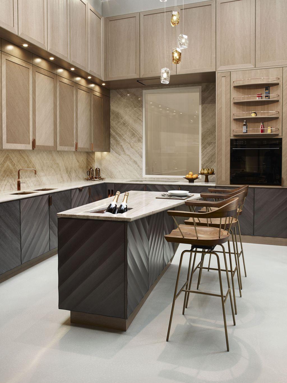Interior Design Kitchen Zweifarbige Küche   Eiche Provence Arbeitsplatte  Celina Küchen