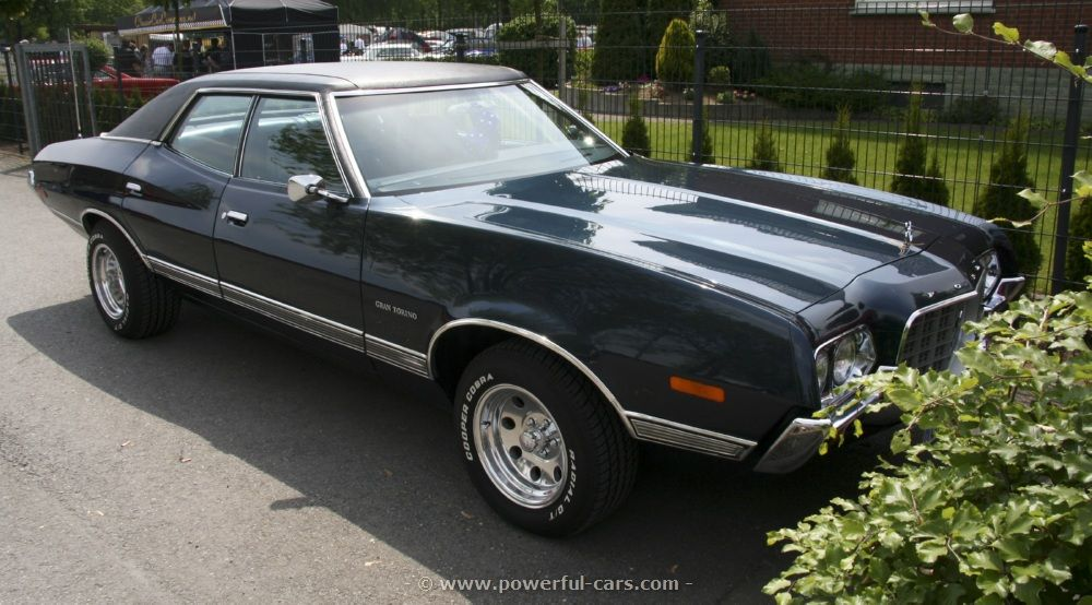 1972 Ford Gran Torino 4 Door In Navy Blue Ours Didn T Have The
