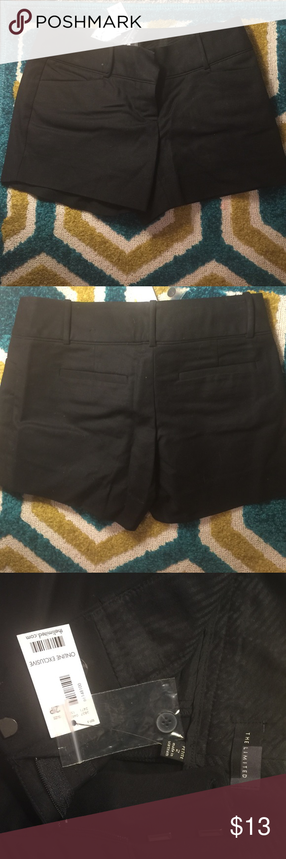 Black express dress shorts Petite! Never worn. Ordered online last fall but gained weight over winter. Online exclusive The Limited Shorts